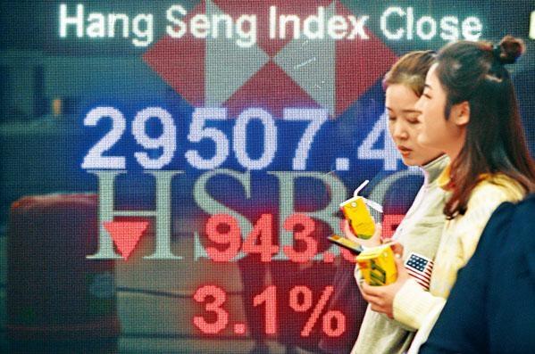 ■港股再度大跌,藍籌股差不多全部插水。