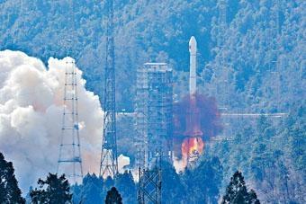■昨天,長征三號乙運載火箭拔地而起,將北斗三號衞星成功發射到浩瀚太空。