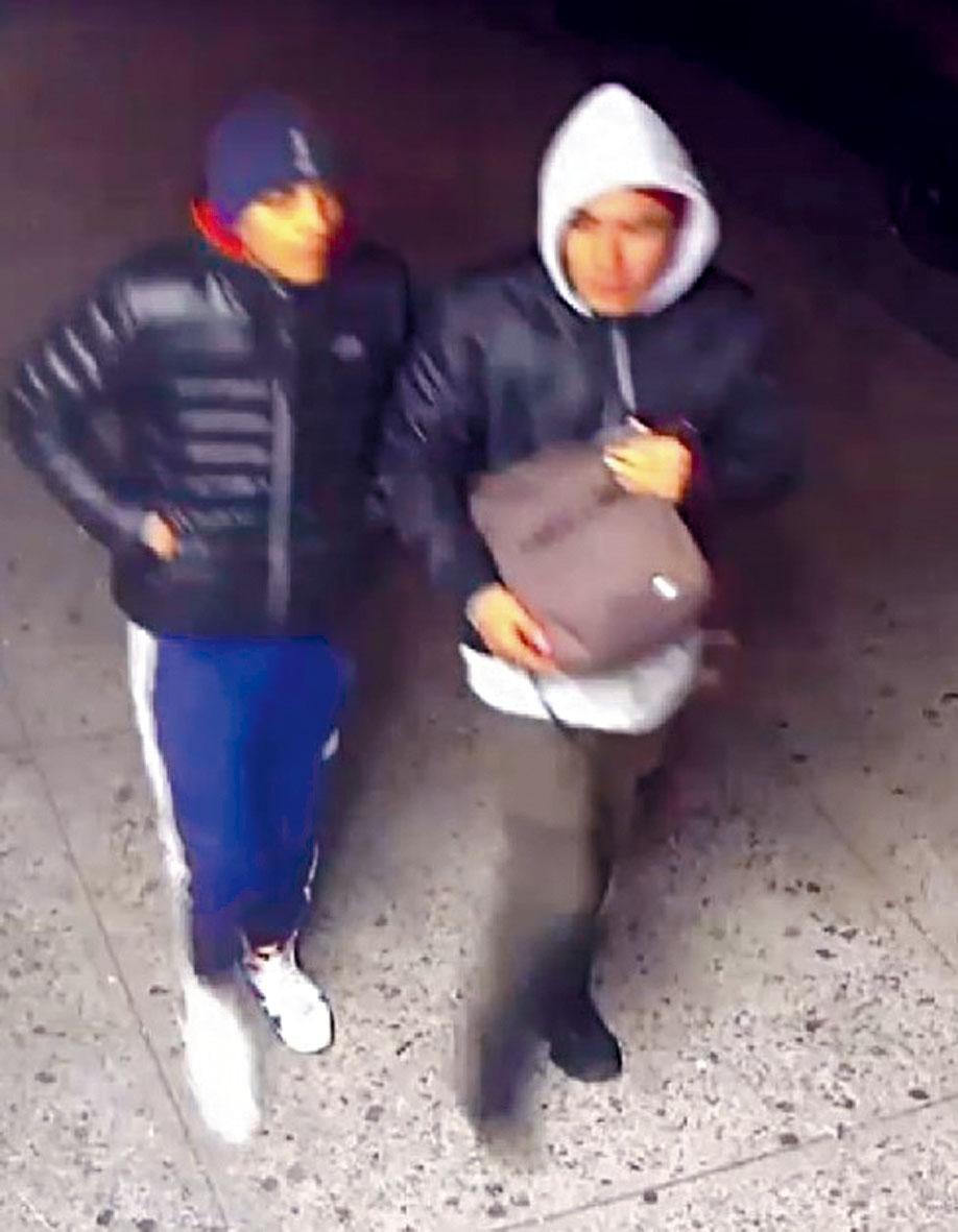 兩名嫌犯照片。       警方提供