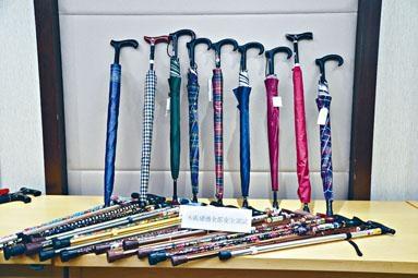 消委會測試市面上三十款手杖及十款手杖傘後,發現有二十六款的安全表現都欠佳。