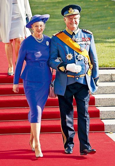 丹麥女皇瑪格麗特二世與皇夫亨里克親王攝於二〇一二年。