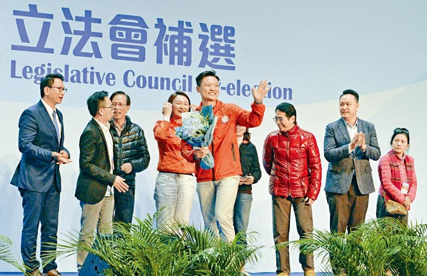 首次「擔正」出選的民建聯鄭泳舜,為建制派在地區直選補選中實現「零的突破」。