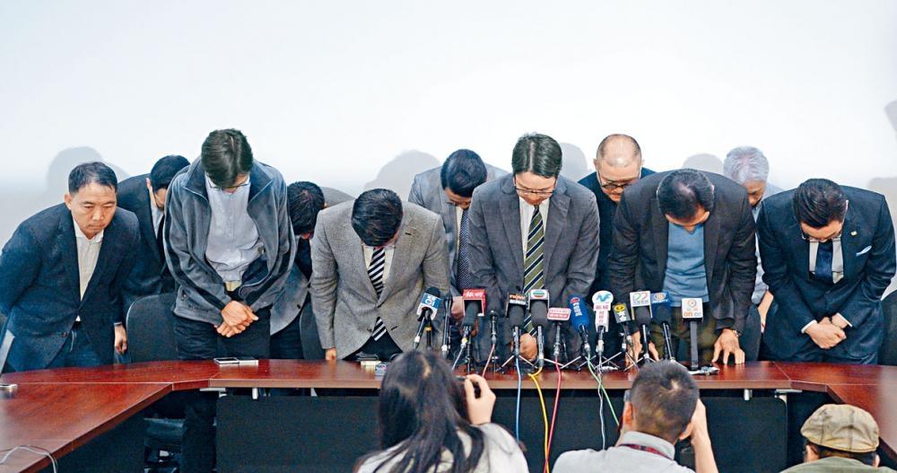 泛民就立法會補選失誤召開記者會向支持者致歉。