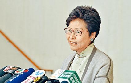 林鄭月娥答應以後每一次選舉,都會盡量作呼籲。