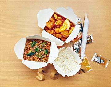 英國的中式外賣餐。