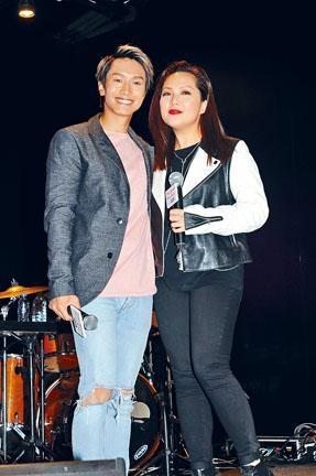 陳柏宇與衞蘭第二度攜手現場合唱。