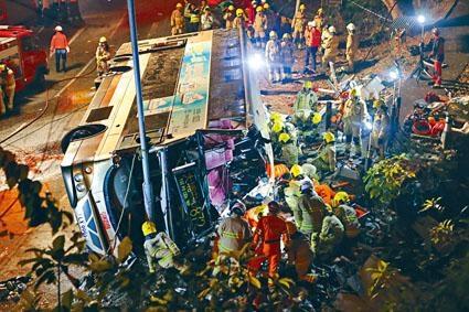 大埔公路於二月曾發生九巴翻車意外,事件釀成十九人死亡。
