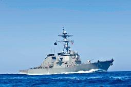 美軍驅逐艦「庫克號」當欺敵的幌子。