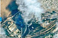 科研中心中導彈後冒出濃煙。