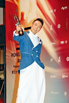 姜皓文終憑《拆彈專家》贏得男配角獎。