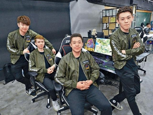 ■(左起)G-REX PUBG隊伍成員BlackWai、Alex、小肥、Neo。