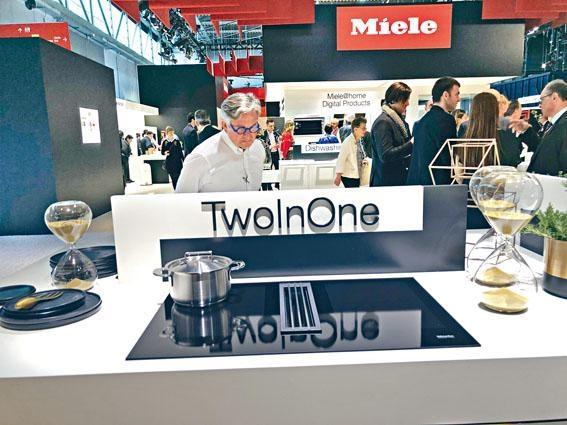 Miele發表將抽油煙機結合電磁爐的TwoInOne。