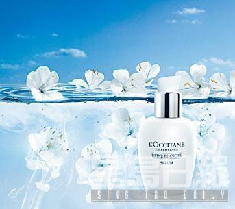 L'Occitane白皇后亮白精華素/$590,以第二代繡綫菊複合物調配而成,配方更加入白鳶尾精華,加倍提升美白及保濕功效。