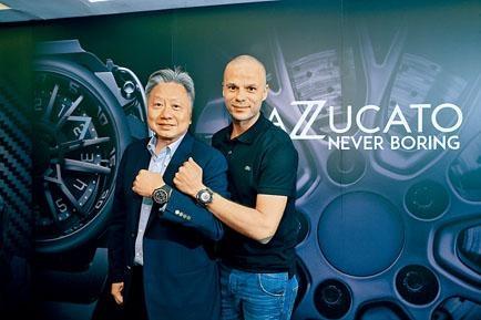 ■太子珠寶鐘錶公司集團主席及行政總裁鄧鉅明博士(左)與Mazzucato創辦人Simone Mazzucato(右)一同出席新表發布會。