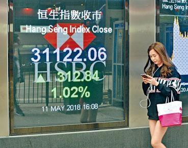 ■港股在藍籌股帶動下衝上三萬一關。