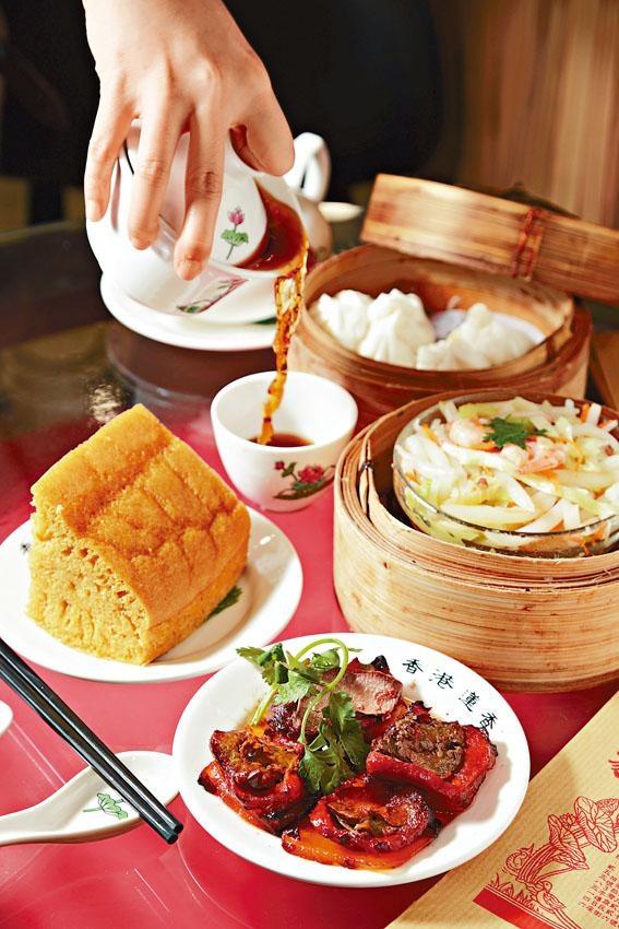 蓮香棧雖為蓮香樓新張姊妹店,但跟總店一樣,秉持延續「一盅兩件」的嶺南茶食文化傳統,對茶品及點心更是一絲不苟。