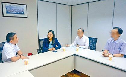 惠東縣政府官員由葛珮帆陪同,與香港業主會面。