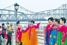 中朝邊境城市遼寧丹東五一假期迎來大量遊人。