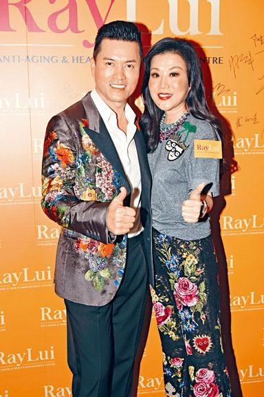 ■呂良偉與太太楊小娟投資過千萬元開設的「偉之健抗衰老及健康管理中心」昨日開幕。