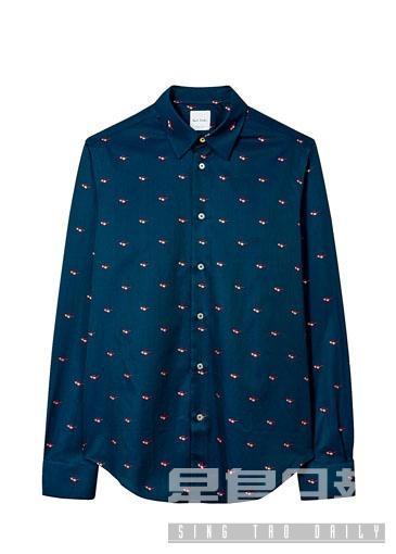 ■Paul Smith太陽眼鏡圖案長袖恤衫\$2,190。
