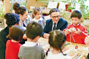 Project Zero學者早前到維多利亞教育機構轄下幼稚園參觀,了解學童學習情況。