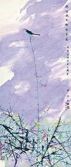 內地著名畫家黃永玉九一年畫作《晨曲》。