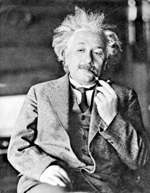 著名物理學家愛因斯坦。