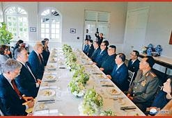 金正恩與特朗普周二出席工作午餐會。