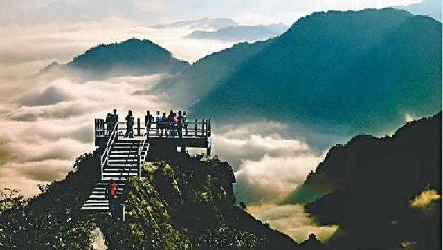 天台山风景区.