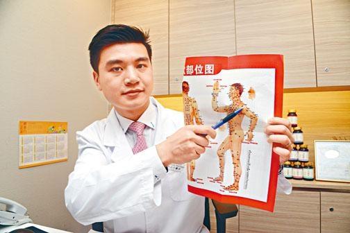 ●崔劍全中醫師稱大家進行正確的穴位按摩,以助紓緩肩頸勞損問題,每天抽時間按摩以下各穴約二至三分鐘,可助減輕痛楚及預防痛症。