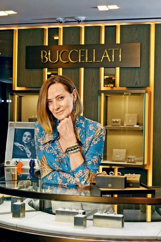 品牌第三代家族傳人Maria Cristina Buccellati,是始創人Mario Buccellati的孫女,現為品牌全球市場與傳播負責人。