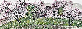 ●何喆鏡《果園的春天》。