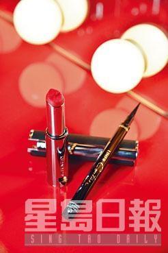 左/華麗魅彩絲絨唇釉、右/高級訂製眼綫液。