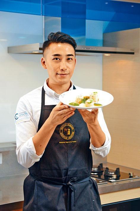 型男Oreo因煮得一手好菜而走紅,是次來到煤氣烹飪中心體驗法國專業烹飪課程,玩得不亦樂乎。