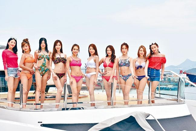 何紫綸帶8位佳麗出海拍攝泳衣照。