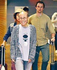 劉霞抵達德國之後身體仍然虛弱。