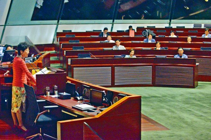 林鄭月娥指過去一年的成績「得來不易」,或多或少反映行政立法關係有改善。