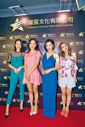 ■(左起)莊思敏、何佩瑜、張文慈與張紋嘉,出席網劇發布會。