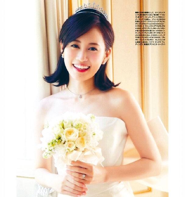 27歲的前田敦子終於完成結婚心願,正式成為人妻。