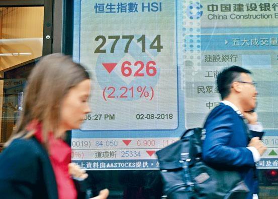 貿易戰影響北水瘋狂流走,拖累港股昨日大跌逾六百點。