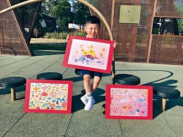 陳溥治在國際畫壇連中三元,《初升的太陽》在波蘭的「國際兒童及青少年藝術雙年展」勇奪「全球冠軍」。