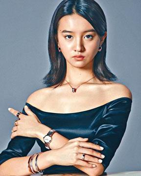 光希昨公開任高級珠寶品牌代言人的宣傳照。