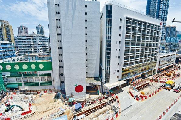 ■港鐵沙中綫土瓜灣站地盤項目附近,不少住宅及商廈錄得沉降情況。