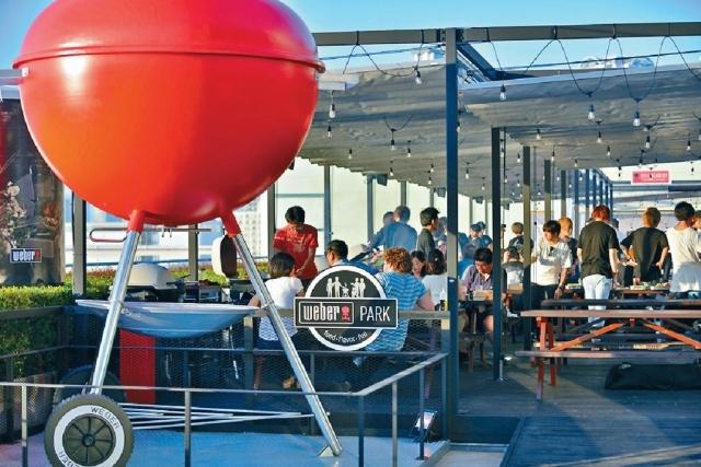 ■威焙上月更於日本東京開設「威焙公園(Weber Park)」,推廣威焙燒烤文化。受訪者提供