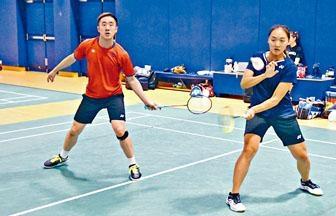 邓俊文/谢影雪近年战绩急速冒升,成为港羽争牌希望。