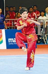 耿晓灵于亚运女子长拳得第五无缘奖牌。
