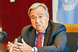 聯合國秘書長古特雷斯批評中俄等國逼害維權人士。