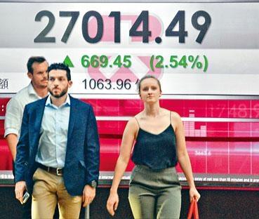 港股中止六連跌,恒指反彈六百六十九點,重上二萬七關口。
