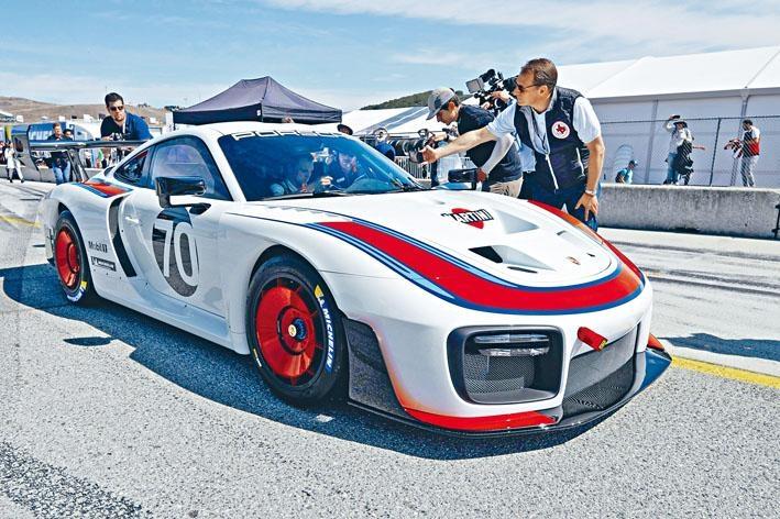 ●筆者是現場少數能夠在Laguna Seca賽道上近距離欣賞到全新935的傳媒之一。