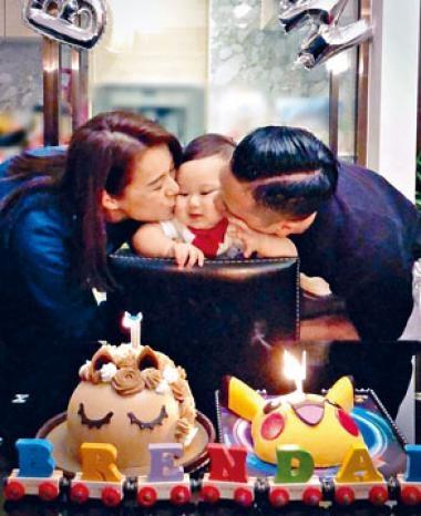 杏兒早前為兒子慶祝1歲生日。